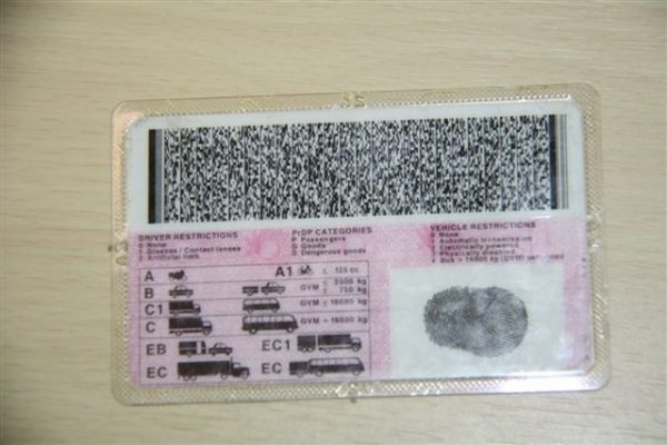 South African Drivers Licence Codes